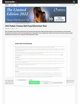 JHS Pedals Cheese Ball Fuzz/Distortion
