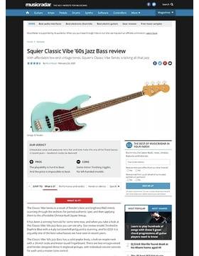 Fender SQ CV 60s Jazz Bass