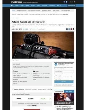Arturia AudioFuse 8Pre