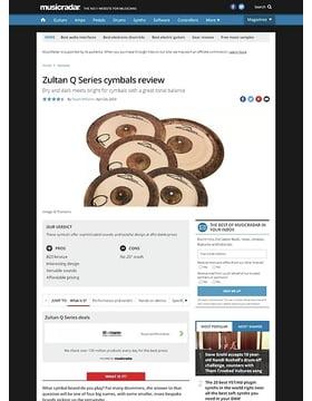 Zultan Q Series Cymbals