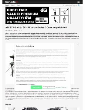 ATV EXS-2 Mk2 / EXS-5 Exercise Series E-Drum Vergleichstest