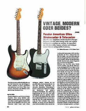 Fender American Ultra Stratocaster & Telecaster, E-Gitarren