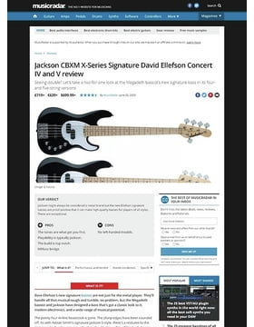 Jackson CBXM X-Series SignatureDavid Ellefson Concert IV and V