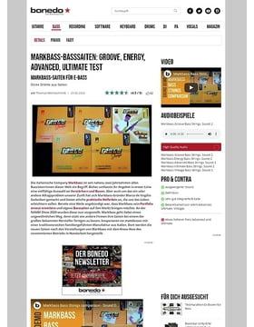 Markbass-Basssaiten: Groove, Energy, Advanced, Ultimate Test