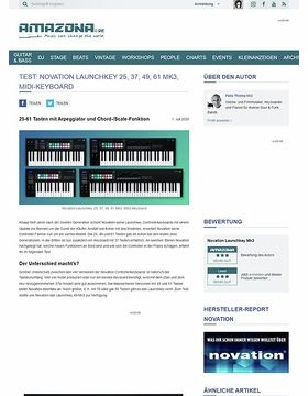Novation Launchkey 25, 37, 49, 61 Mk3