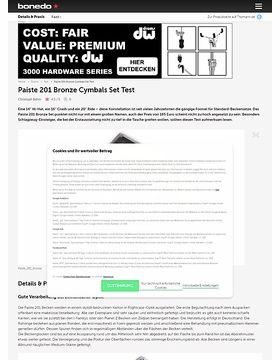 Paiste 201 Bronze Cymbals Set