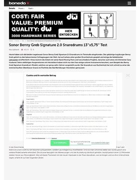 Sonor Benny Greb Signature 2.0 Snaredrums 13