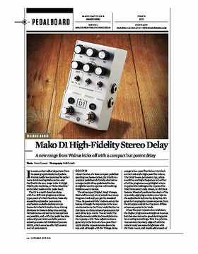 WALRUS AUDIO Mako D1 High-Fidelity Stereo Delay