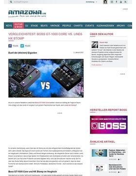 Vergleichstest: Boss GT-1000 Core vs. Line6 HX Stomp