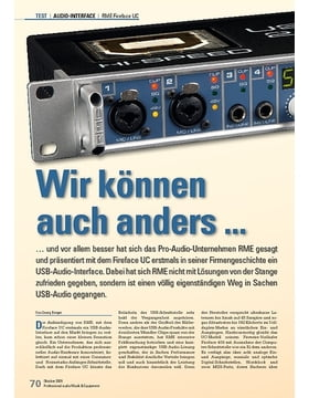RME Fireface UC: Wir können auch anders ...