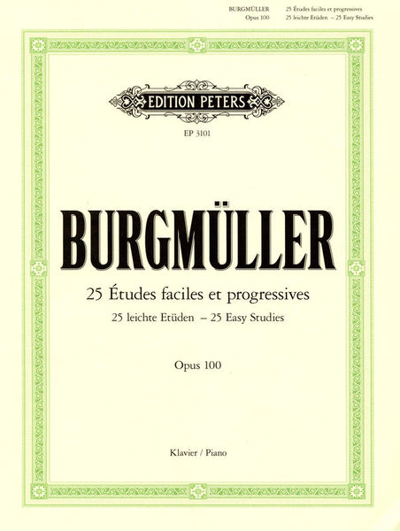 Edition Peters Burgmüller Etüden