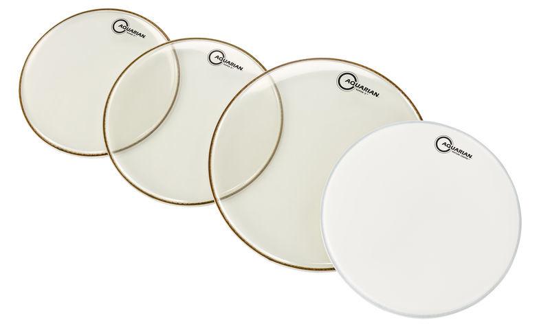 Aquarian QS2-B Drum Head Set Standard