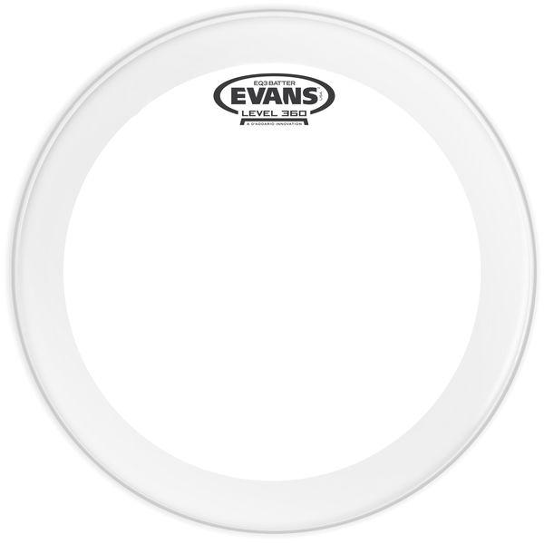 """Evans 20"""" EQ3 Clear Bass Drum Head"""