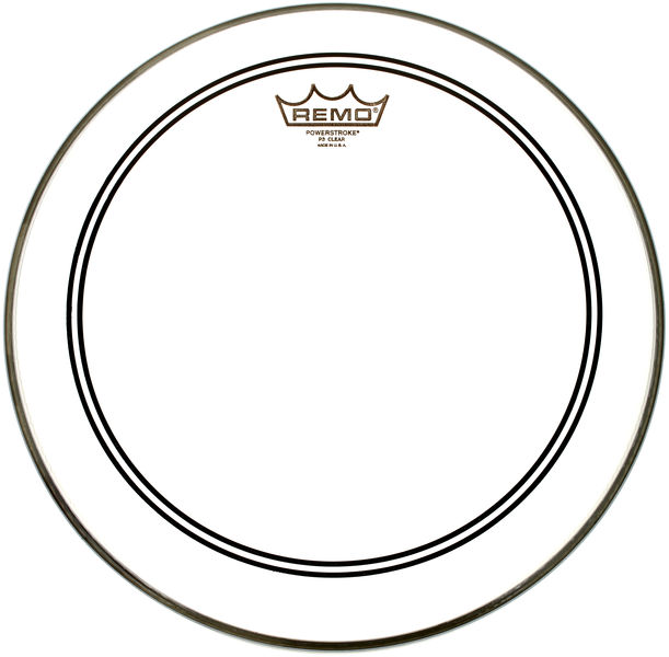 "Remo 14"" Powerstroke 3 Clear CS-Dot"