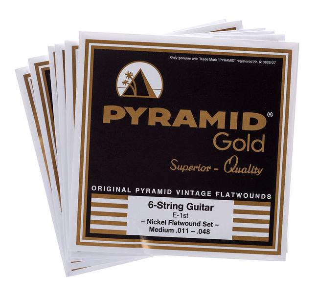 Pyramid Gold Flatwound 011-048