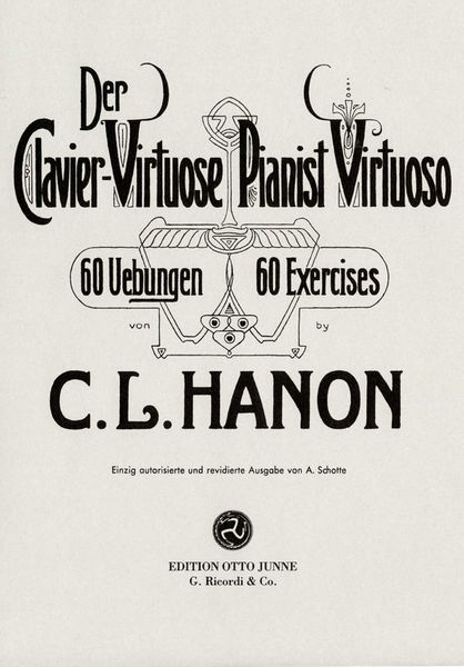 Otto Junne Verlag Hanon Pianist Virtuoso