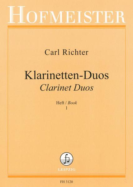 Friedrich Hofmeister Verlag Richter Clarinet Duos 1