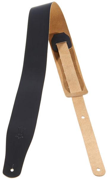 "Levys Leather Strap 2,5"" BK"