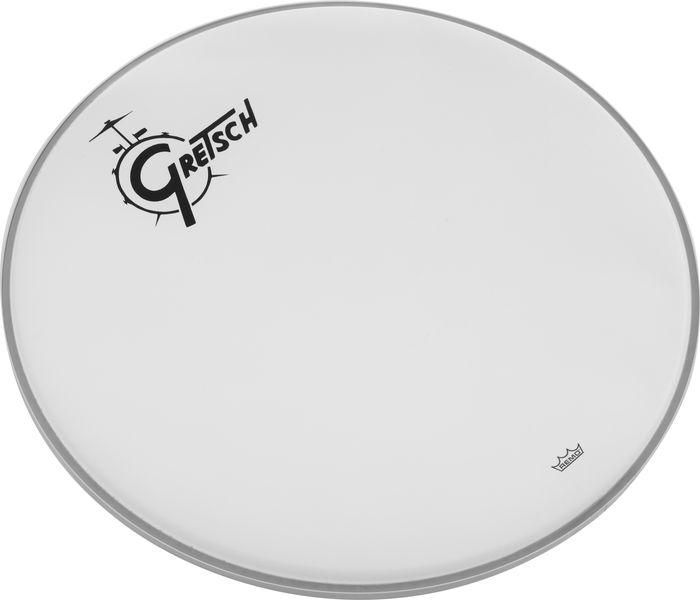"""Gretsch Drums 22"""" Bass Drum Head WH w/Logo"""