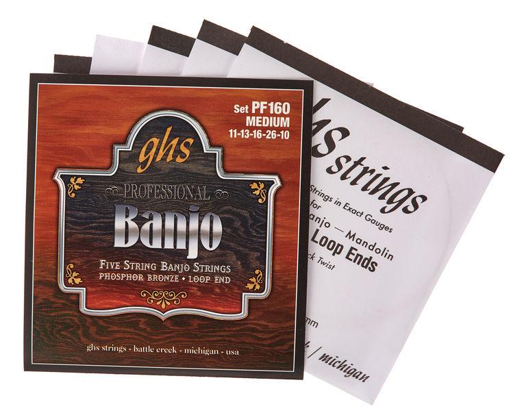 GHS PF160 5-String Banjo Set