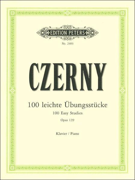 Edition Peters Czerny 100 leichte Übungsstück