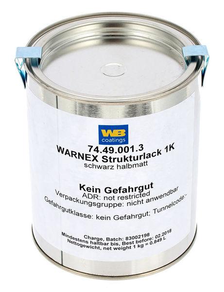 Warnex Structure Paint Black 1Kg