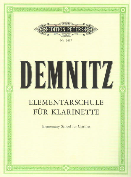 Edition Peters Elementarschule für Klarinette