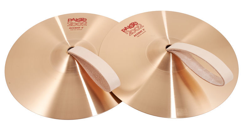 """Paiste 2002 08"""" Accent Cymbal Pair"""