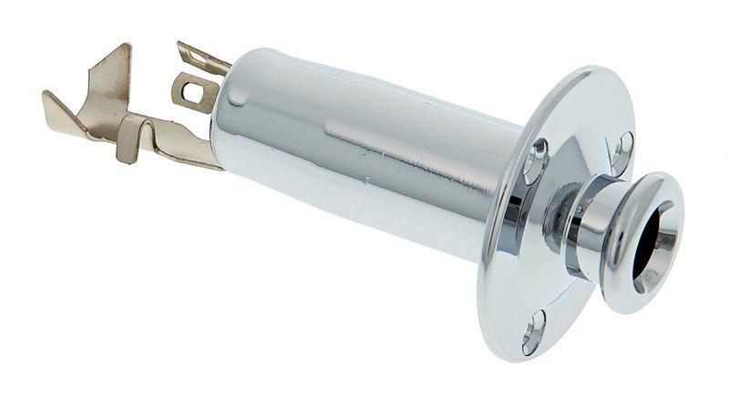 Allparts End Pin Jack Chrome Acoustic