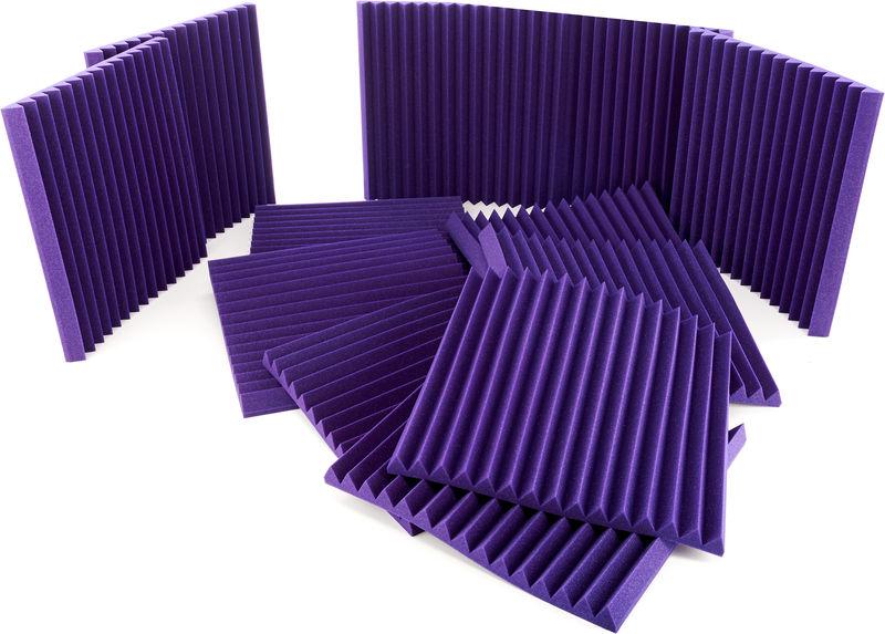 "Auralex Acoustics 2"" Studiofoam Wedges Purple"