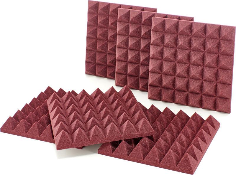"Auralex Acoustics 4"" Studiofoam Pyramids Burgund"