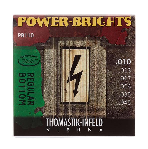 Thomastik PB110 E-Saiten 10-45 Power Brights medium light