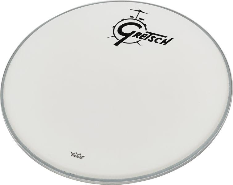 """Gretsch Drums 20"""" Bass Drum Head WH w/Logo"""