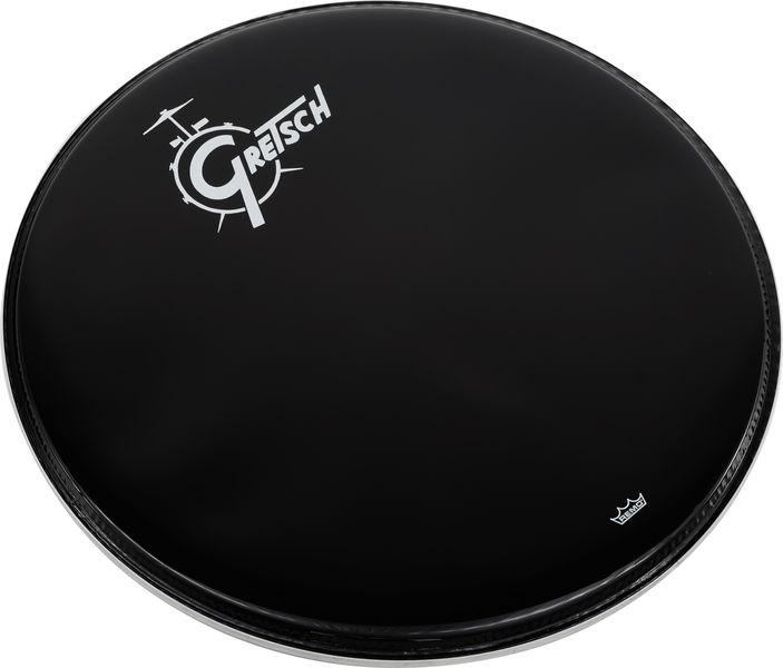 """Gretsch Drums 22"""" Bass Drum Head Black/Logo"""