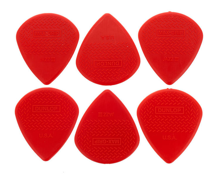 Dunlop Nylon Max Grip Jazz III Red