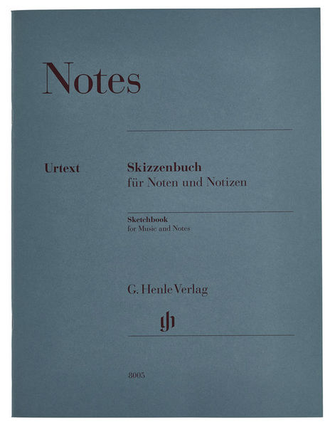 Henle Verlag Sketchbook Music Notes A4