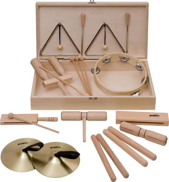 Goldon Percussion Set 5 in Wood Box