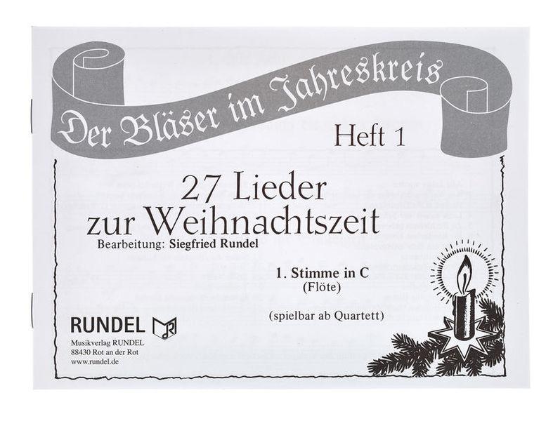 Musikverlag Rundel 27 Lieder Weihnacht 1C