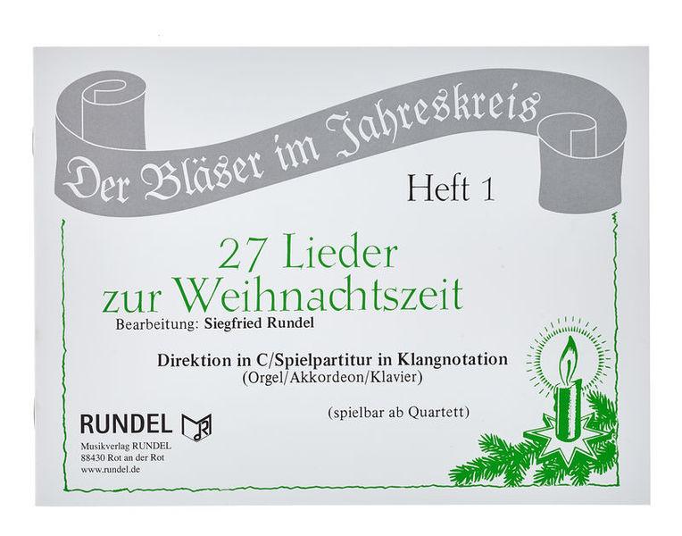 Musikverlag Rundel 27 Lieder Weihnacht