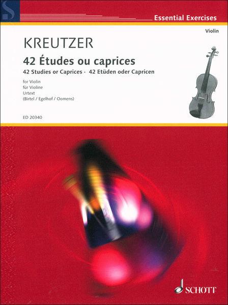 Schott Kreutzer 42 Etudes Violin