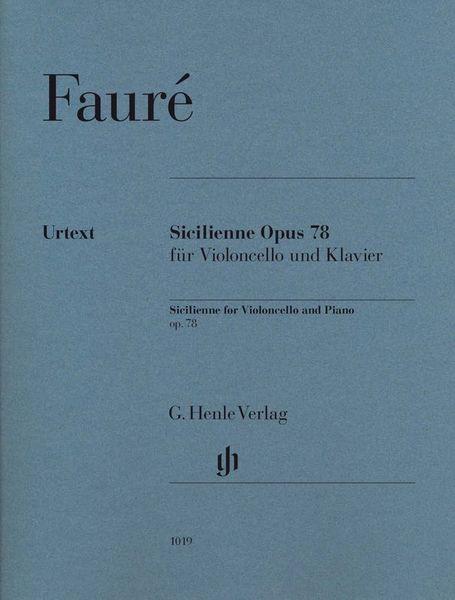 Henle Verlag Fauré Sicilienne Opus 78 Cello