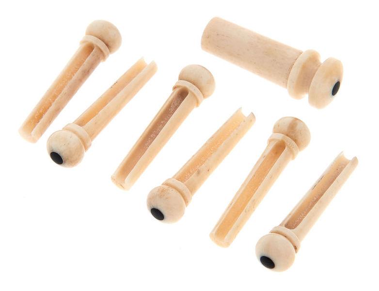 Harley Benton Parts Bridgepin Set Bone Eb E