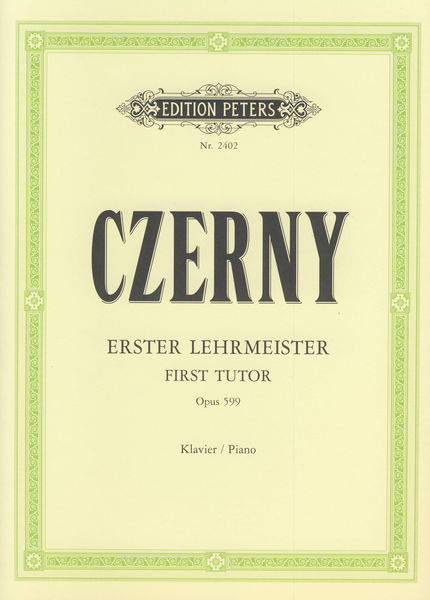 Edition Peters Czerny Erster Lehrmeister