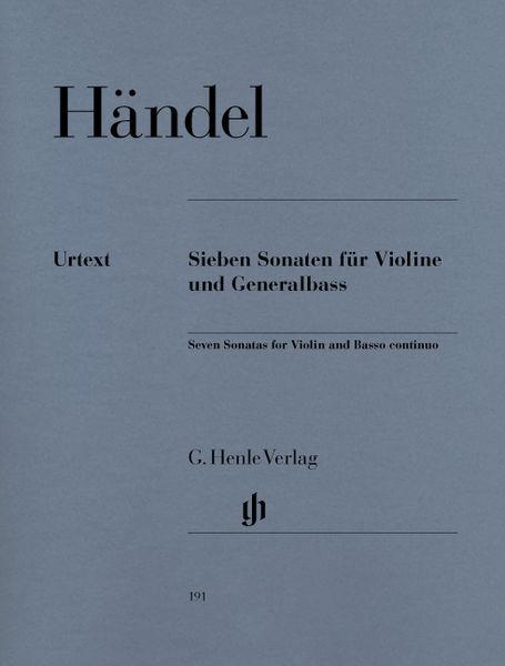Henle Verlag Händel Sieben Sonaten Violin