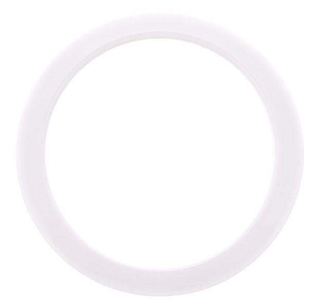 "Bass Drum O's 4"" White round HW4"