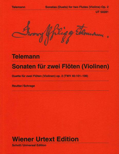 Wiener Urtext Edition Telemann Sonatas Flutes Op.2