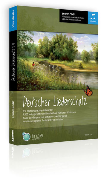 scores2edit Deutscher Liederschatz