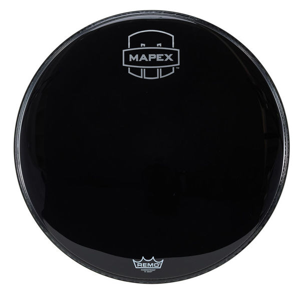 "Mapex 22"" Bass Drum Front Head Black"