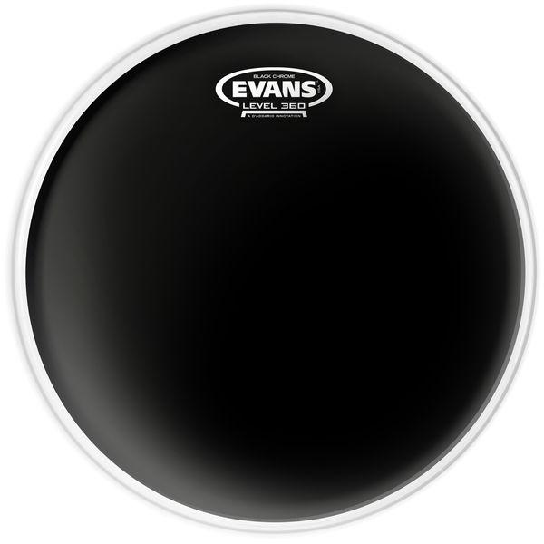 """Evans 13"""" Black Chrome Tom"""