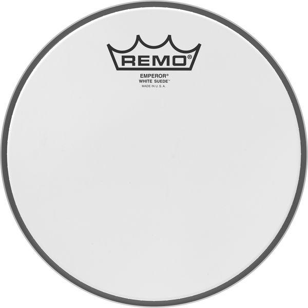"""Remo 08"""" Emperor White Suede"""